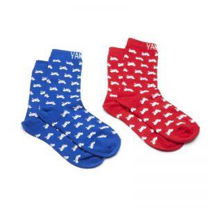 Yamaha Christmas Socks red/blue