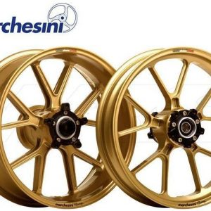 Marchesini M10RS 10 Spoke Forged Magnesium Wheels gold Yamaha R1 2015-