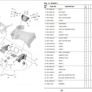 YZF-R1 2020- Ram air Intake OEM Parts