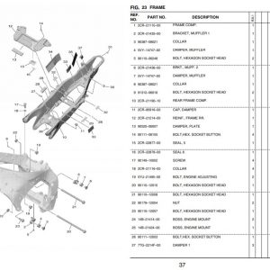 YZF-R1 2020- Framegroup OEM Parts