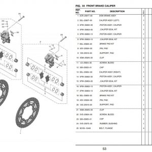 YZF-R1 2020- Front Brakes OEM Parts