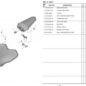 YZF-R1 2020- Seats OEM Parts