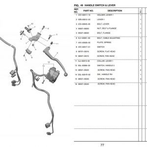 YZF-R1 2020- Switches OEM Parts
